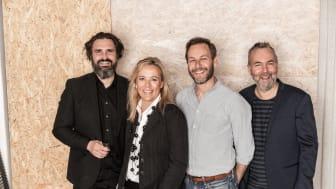 Arkitekterna Fredrik Rosell, Johanna Nordstrand, Per Norberg och Christian Merkel