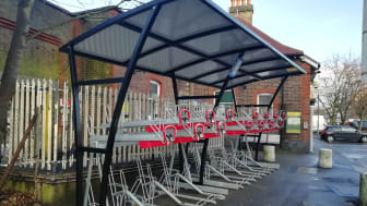Supporting sustainable travel: GTR have boosted cycle parking spaces at stations by over 1,000 in the past year