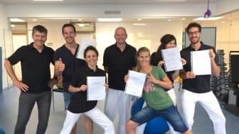 Das Team des Wirbelsäulenstützpunkt Tirol® an der Privatklinik Hochrum plus FPZ Ausbildungsleiter Martin Helmes (ganz links)