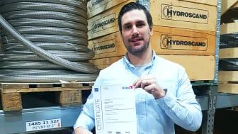 Rickard Öreteg, fabrikschef hos Hydroscand Special Hoses i Motala, Sverige.