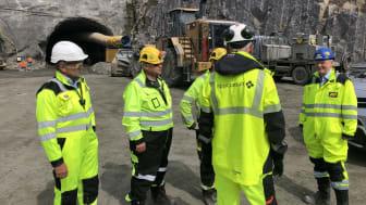 Anleggsbesøk på E39 Kristiansand-Mandal. Foto: Norconsult