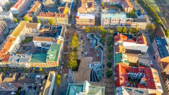 Eslövs centrum klart fem månader före tidplanen – men invigningen skjuts till 2022