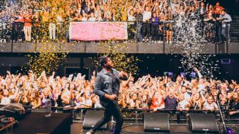 Den selverklærte sjefen for fest åpner The Gathering 2017. Foto: DRIV / Daniel Lilleeng