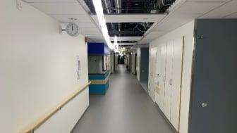 Peabs ombyggnad av norra flygeln av Helsingborgs sjukhus, där beställaren ställt krav på återvinning av allt mattspill.