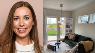 Edita Uzunovic från Fastighetsbyrån var på plats i OBOS visningshus i Dalby i helgen