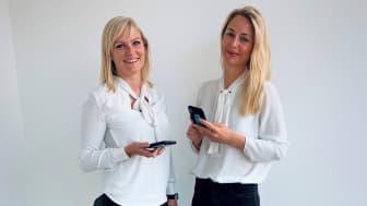Fra venstre: Drifts- og utviklingsleder i VB Smart AS, Elise Støle Ovedal sammen med HMSK- og driftskoordinator Pernille Wabakken, gleder seg over at stadig flere VB-rørleggere tar i bruk VB Smart. – En meget lønnsom investering, sier de.