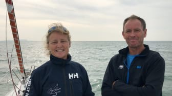Pip Hare and Paul Larsen teamed up for the 2019 Rolex Fastnet Race