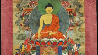 A Tibetan thangka of Buddha Shakyamuni