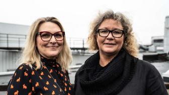 Chicie Lindgren, enhetschef Stockholm Design Events, och Christina Olsson, projektchef Formex.