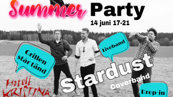 Fira in sommaren tillsammans med vänner och familj på Hotell Kristina, fredag den 14 juni.