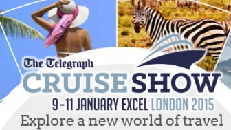 Join 'Best Value for Money' Fred. Olsen Cruise Lines at the Telegraph Cruise Show London 2015   ExCeL, 9th to 11th January 2015, Stand 820