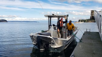 Sustainable shellfish-farmers Penn Cove Shellfish use OXE150 in their everyday operations.