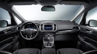 Ford S-MAX Vignale ble vist for første gang på den internasjonale bilutstillingen i Geneve. Her med interiørbilde.