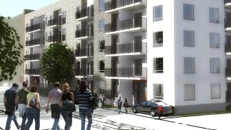Lustgårdens flerbostadshus vid Hyllie allé