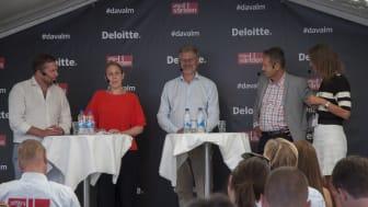I panelen deltog Günther Mårder, vd Företagarna, Karin Stenmar, hållbarhetschef Folksamgruppen, Klas Eklund, Senior Economist och Svante Axelsson, nationell samordnare, Fossilfritt Sverige.