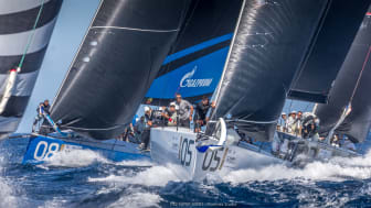 Sailing athletes showing their skills (and need for Bluewater hydration) in the 52 SUPER SERIES (Photo copyright to the 52 SUPER SERIES / Nico Martinez)