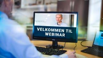 Kurser folk på hjemmekontor: Koronakrisen fikk Hans Olav Arnesen og Trainor Elsikkerhet AS til å gjøre om klasseromskurs til webinar i rekordfart. Foto: Trainor