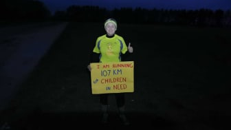 Anna Bilska, a Go North East bus driver who ran 107km to help raise money for Children in Need