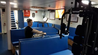 The 'Esvagt Cornelia' won this year's fitness challenge, by keeping the treadmill going for 24 hours in a row.