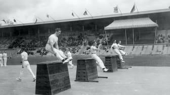 Gymnastikuppvisning 1913.