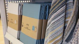 Den nya, mer hållbara, förpackningen.