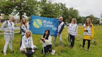 Ein Ruhr Tourismus-Team ist beim RuhrCleanUp dabei