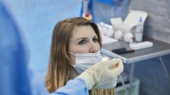 Mehr als 20.000 kontrollierte Tests können jeden Tag in den dm Corona-Schnelltest-Zentren durchgeführt werden. Foto: Sebastian Heck