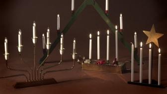The Swedish electric advent candelabra - a modern light phenomenon.