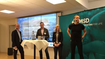 Från vänster: Ulf Janzon, Jonas Ålebring, Sofia Fölster och Fabian Bolin.