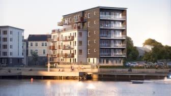 Brf Kajutan, Riksbyggen, Sannegårdshamnen, Göteborg