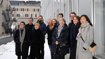 Projektteamet från BSK Arkitekter och Arkitema/ELN vid invigningen av nya Södertälje sjukhus.