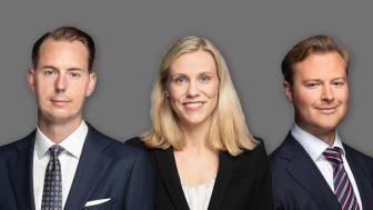 Från vänster; Anders Elvinsson, Head of Valuation & Strategic Advisory, Annie Lilja, Senior Consult och Staffan Dahlén, Head of Strategic Advisory.