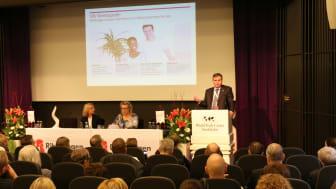 Riksbyggens fullmäktige samlades för stämma på World Trade Center i Stockholm den 5 maj.