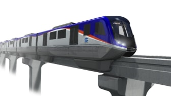A rendering of Hitachi's monorail for Line 3 of Panama Metro.