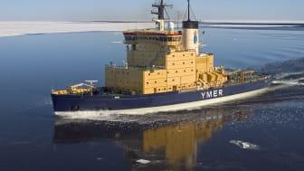 Ymer är en av Sjöfartsverkets fem statsisbrytare. Foto: Sjöfartsverket