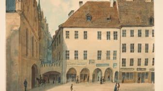 Joseph Puschkin, Der Vorgängerbau der Stadtsparkasse München um 1880.