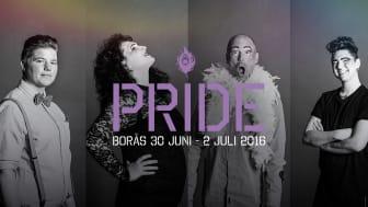 Teddi, Lii, Ulf och Noel frontar Borås Pride
