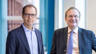 Bild: Martin Höhler, vd för E.ON Energidistribution och Jonas Arvidsson, vd för ONE Nordic.