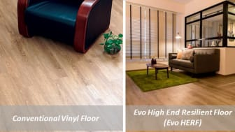 FAQ - High End Resilient Flooring (HERF): How it Differs from Laminate and Conventional Vinyl Flooring?