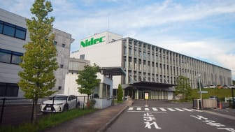 The headquarters of Nidec Mobility (formerly known as OMRON Automotive Electronics)