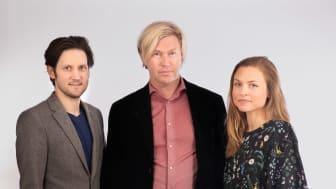 Oscar Kjell, Sverker Sikström & Katarina Lundberg från WordDiagnostics. Foto: Viktor Holm