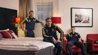 From left: Marcus Allbäck, Johan Elmander and Anders Svensson