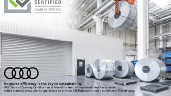 Audi tildeles Chain of Custody- certifikatet fra Aluminium Stewardship Initiative
