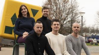 Dual Career Team. Øverst fra v: Pia Thomsen, Mathias Reimer Larsen. Nederst fra v.Jan Frederiksen, Jesper Kristoffersen, Klaus Lykke.