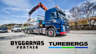 Byggarnas Partner och Turebergs Transport inleder samarbete