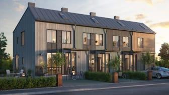Förslaget har tagits fram av Mjöbäcks och Västkuststugan tillsammans med KVM Bostad och ritats av Andersson Arfwedson Arkitekter.
