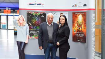 Winfried Lonzen, Geschäftsführer der ZSL Betreibergesellschaft mbH und Iris Rackwitz, Marketing- und Eventmanagerin der ZSL, sind sehr zufrieden mit den Besucherzahlen der Arena Leipzig im Jahr 2016