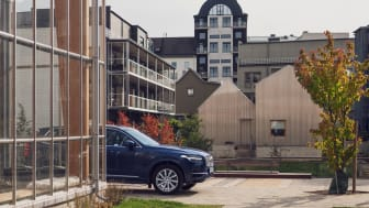 Volvo Car Mobility launches M in Linköping, to start with 28 stations will be available. Above from the city district Vallastaden where you find three M-stations.