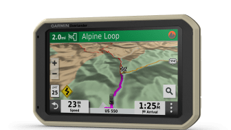 Utforska fler områden med Garmin Overlander™ En helt ny navigeringsupplevelse för äventyrsresenärer