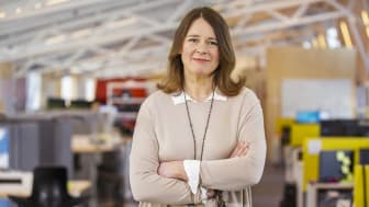 UR:s vd, Sofia Wadensjö Karén presenterar UR:s nya organisation och söker sex nya chefer.